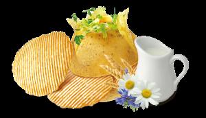 картофель сливки
